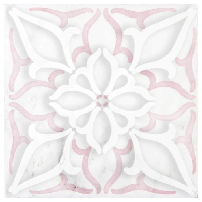Petals Pink Carrara Marble