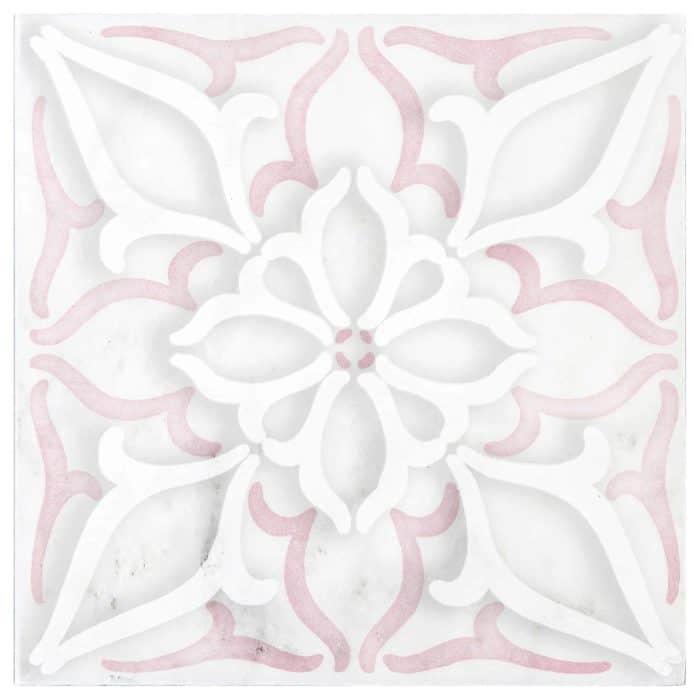 Petals Pattern (Pink) on Carrara