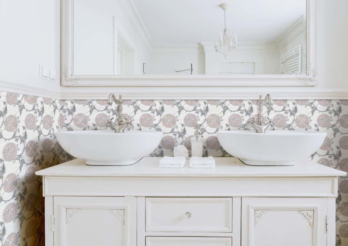Eliana Bathroom Install pink