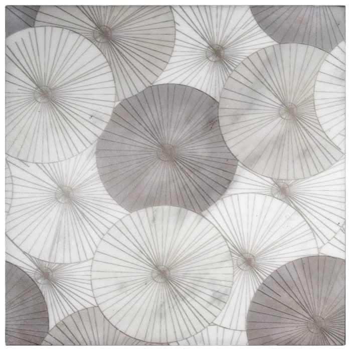 Parasol Greige on Carrara