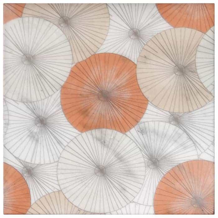 Parasol Poppy on Carrara