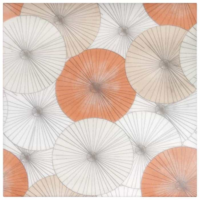 Parasol Poppy on Arctic White