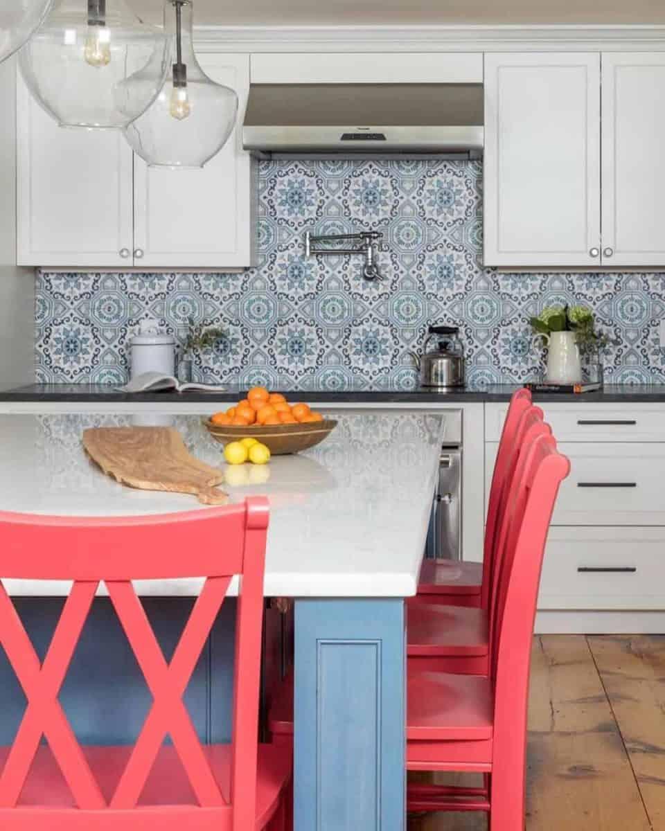 Sanza kitchen backsplash install