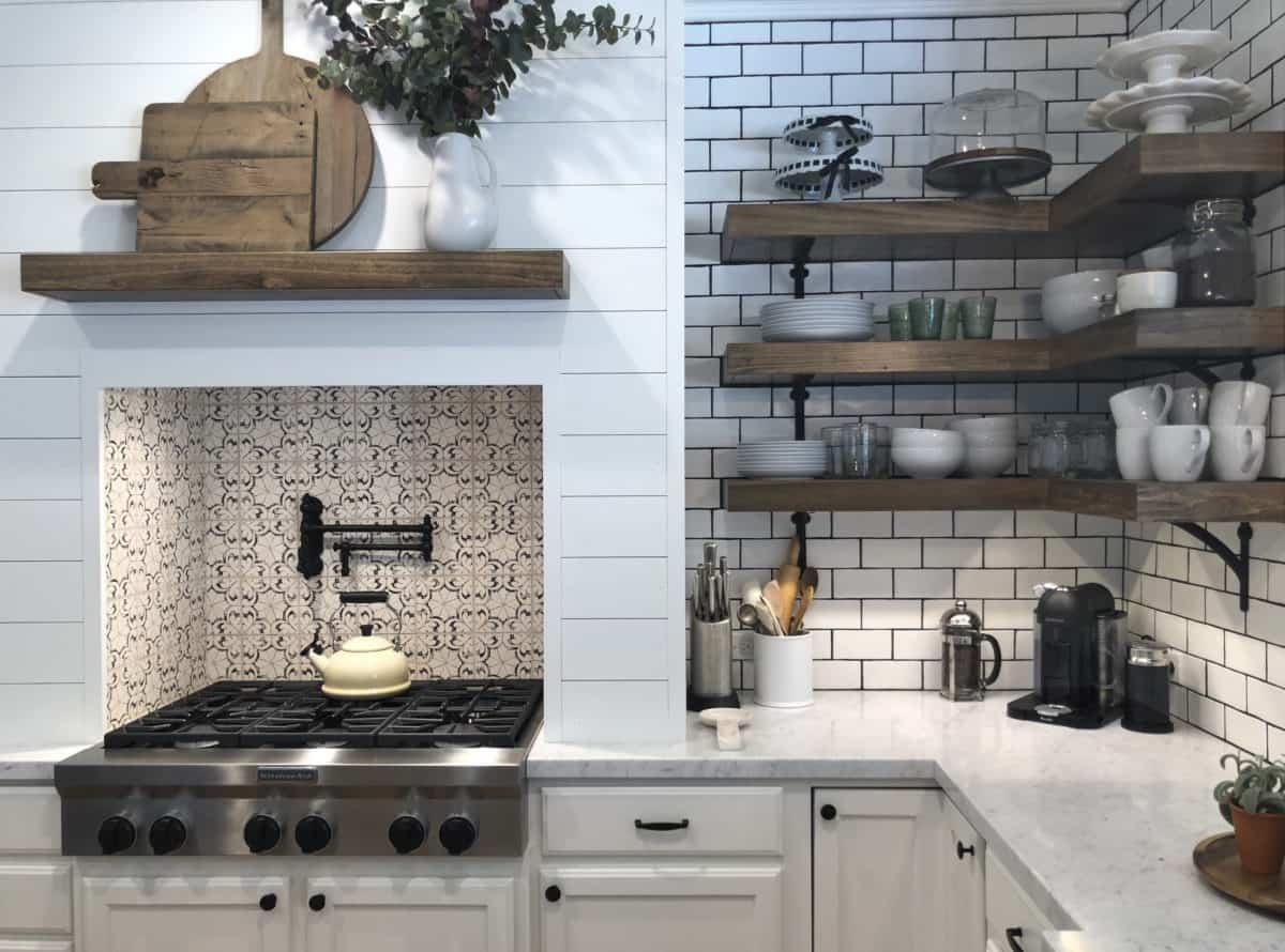 Artisan Stone Tile Oasis Pattern Kitchen Install