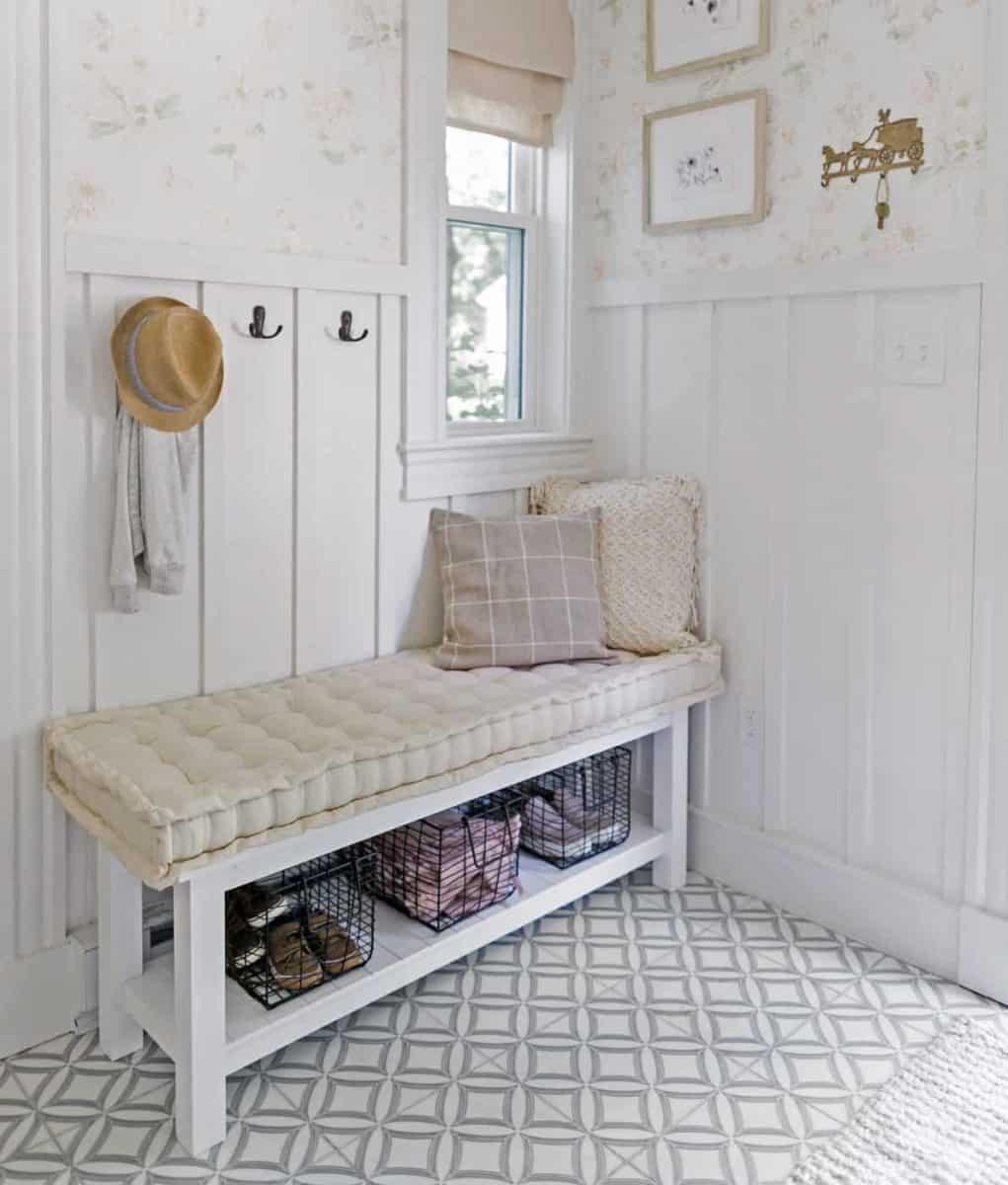 Ellipse Blue Laundry Room Floor Jacquelyn Clark