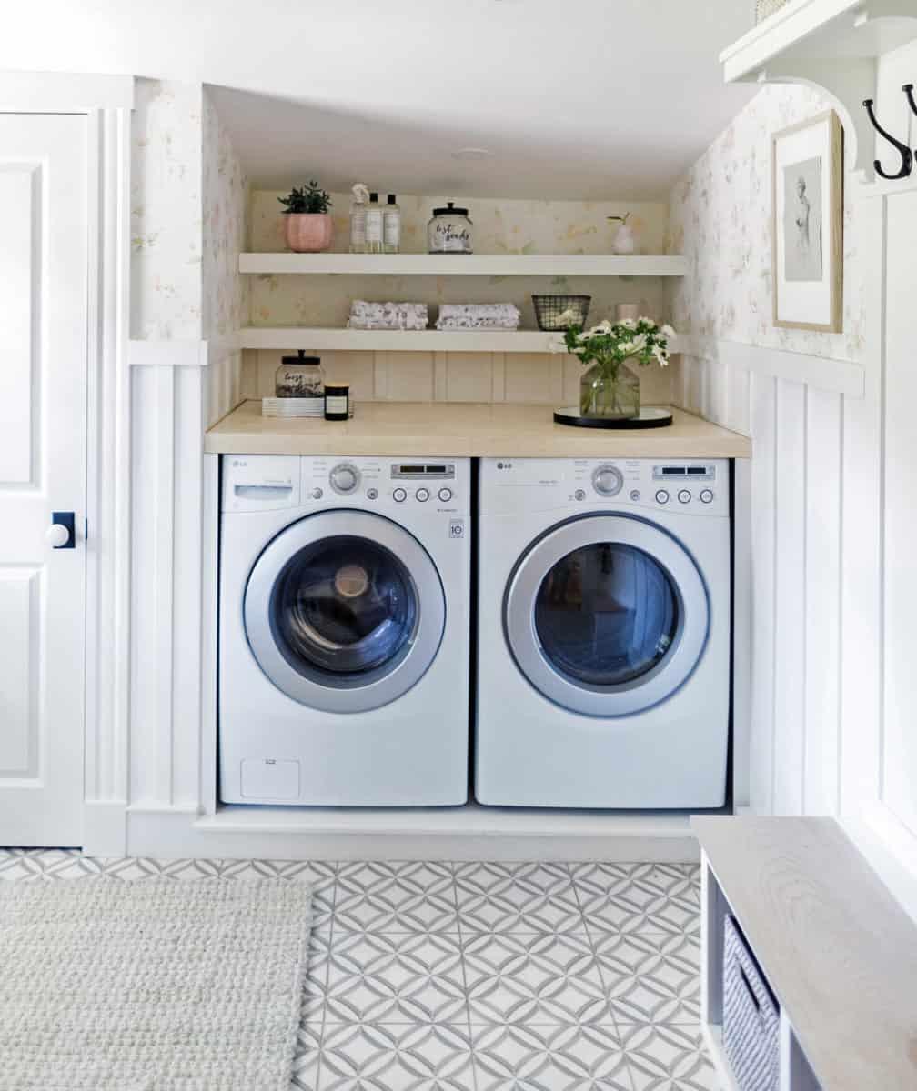 ellipse laundry room floor installation