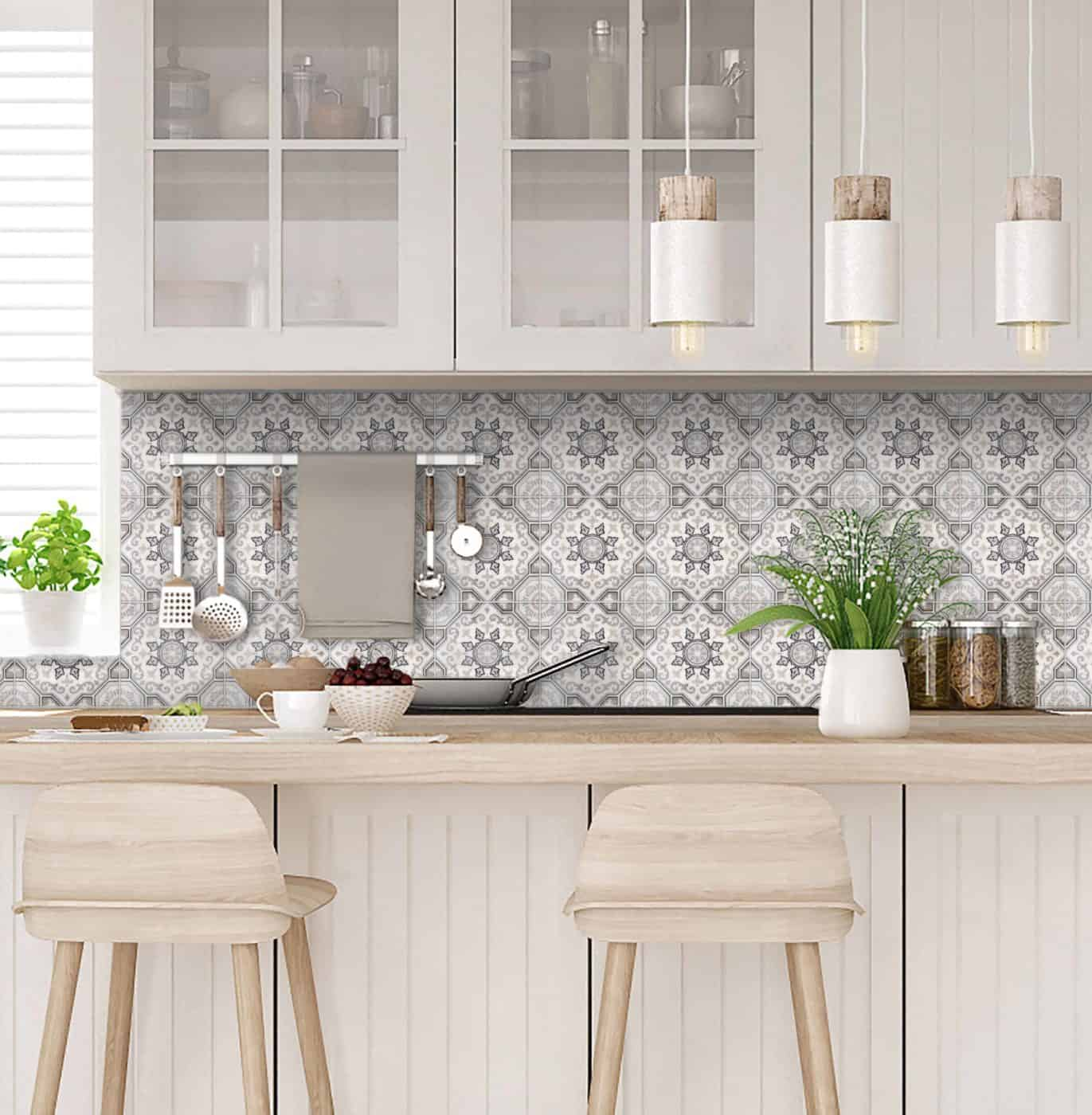 custom color layout mock-up of kitchen backsplash