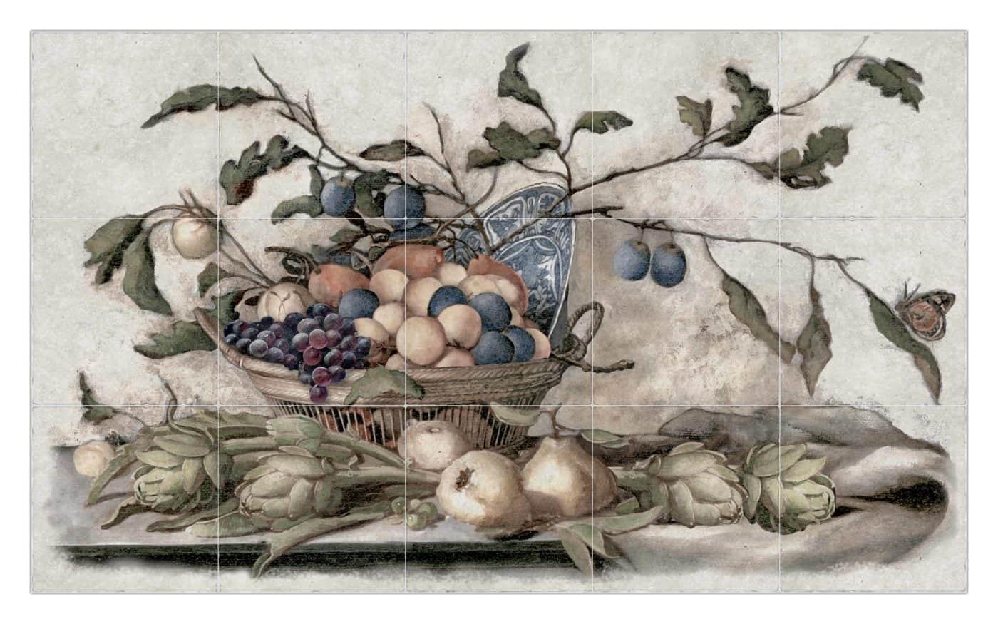 Cynara mural with custom Fruit