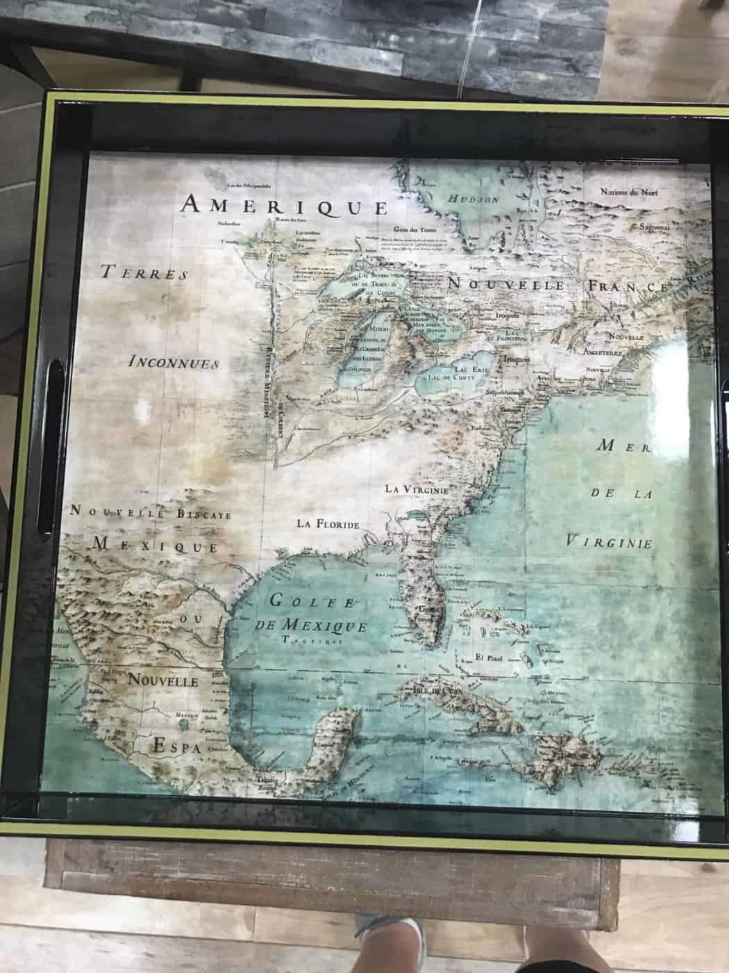 Photo of a map of North America