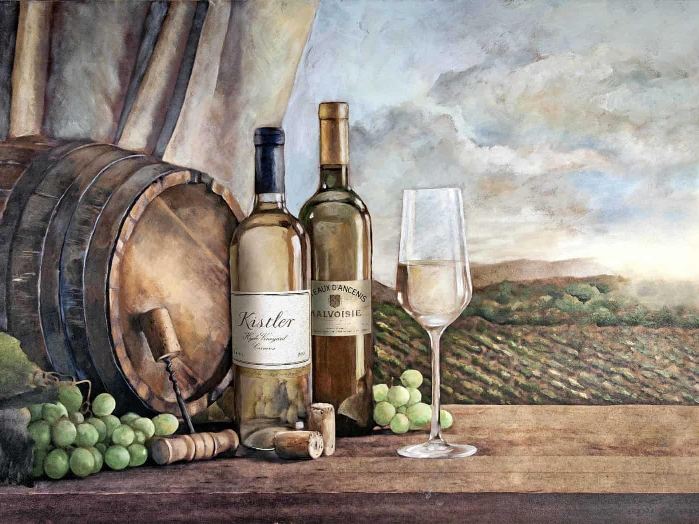Vin Blanc Mural
