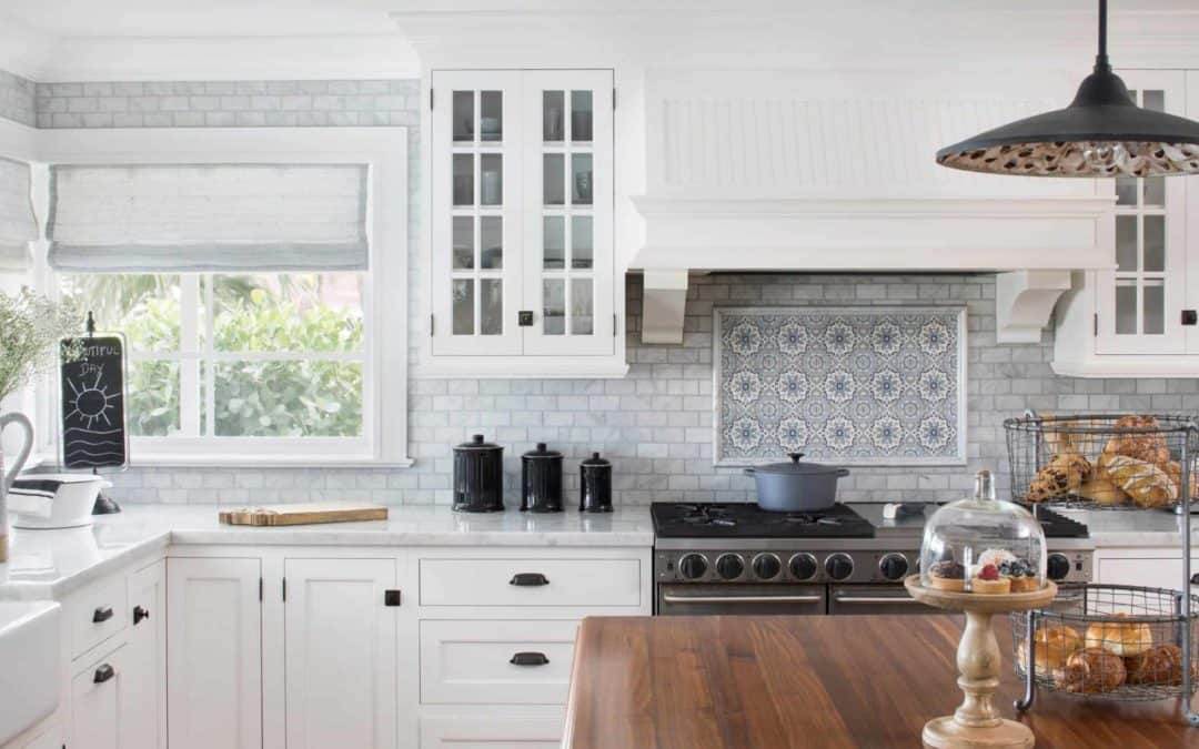 Sanza (Snowflake Blue) Kitchen Install Backsplash Budget Idea