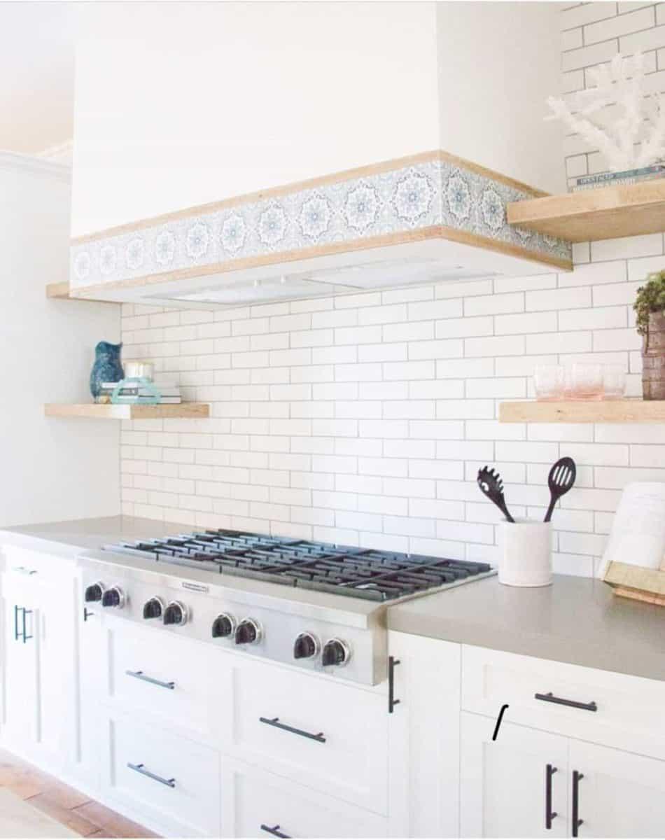Sanza (Snowflake Blue) Kitchen Stove Hood Idea