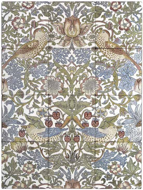 Sophia Mural William Morris Pattern StoneImpressions
