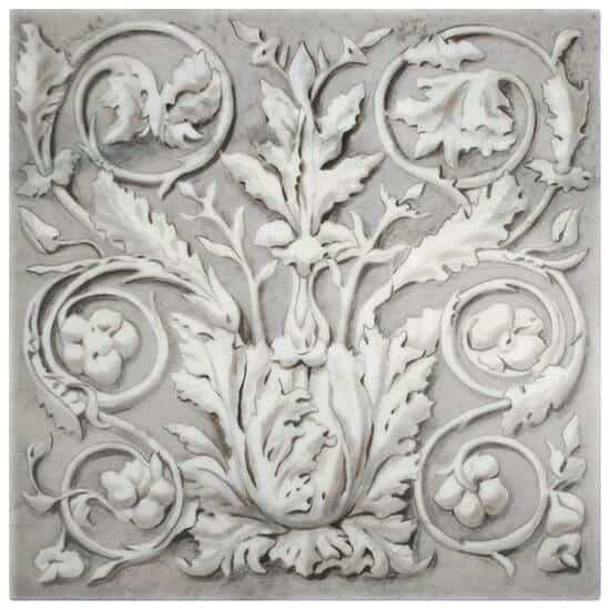 Marcelino (Alabaster) on Carrara marble StoneImpressions