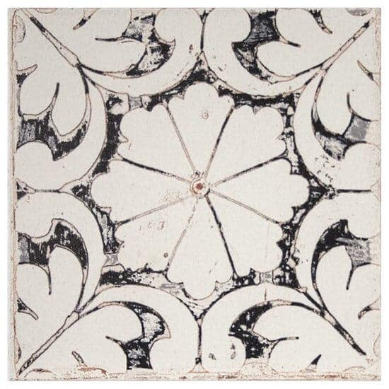 Oasis Pattern Tile black on limestone