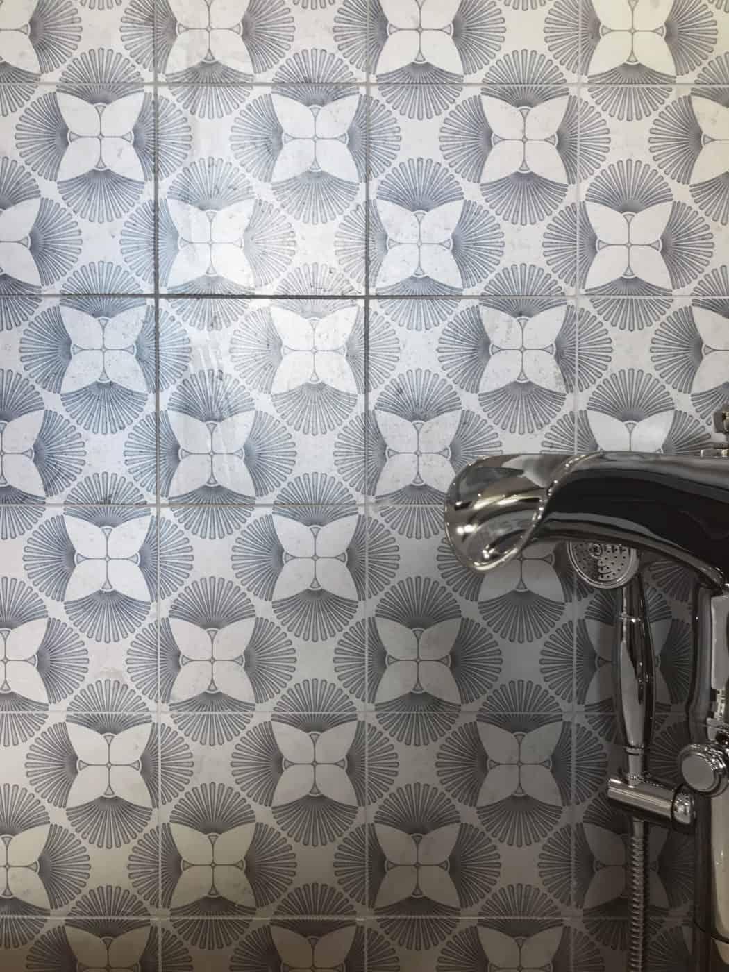 Briolette Pattern (agate) on Silver Luster (bathroom)