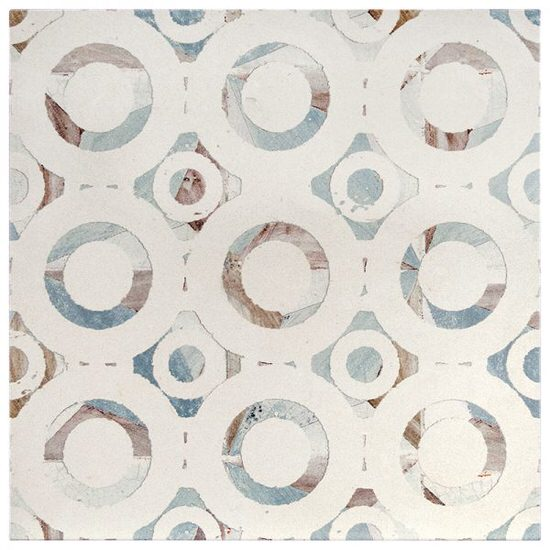 Circular Valisco Pattern Tile Design on limestone