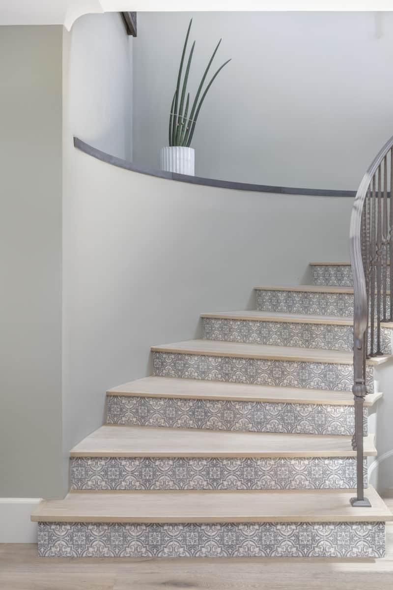 ella pattern limestone decorative stair risers