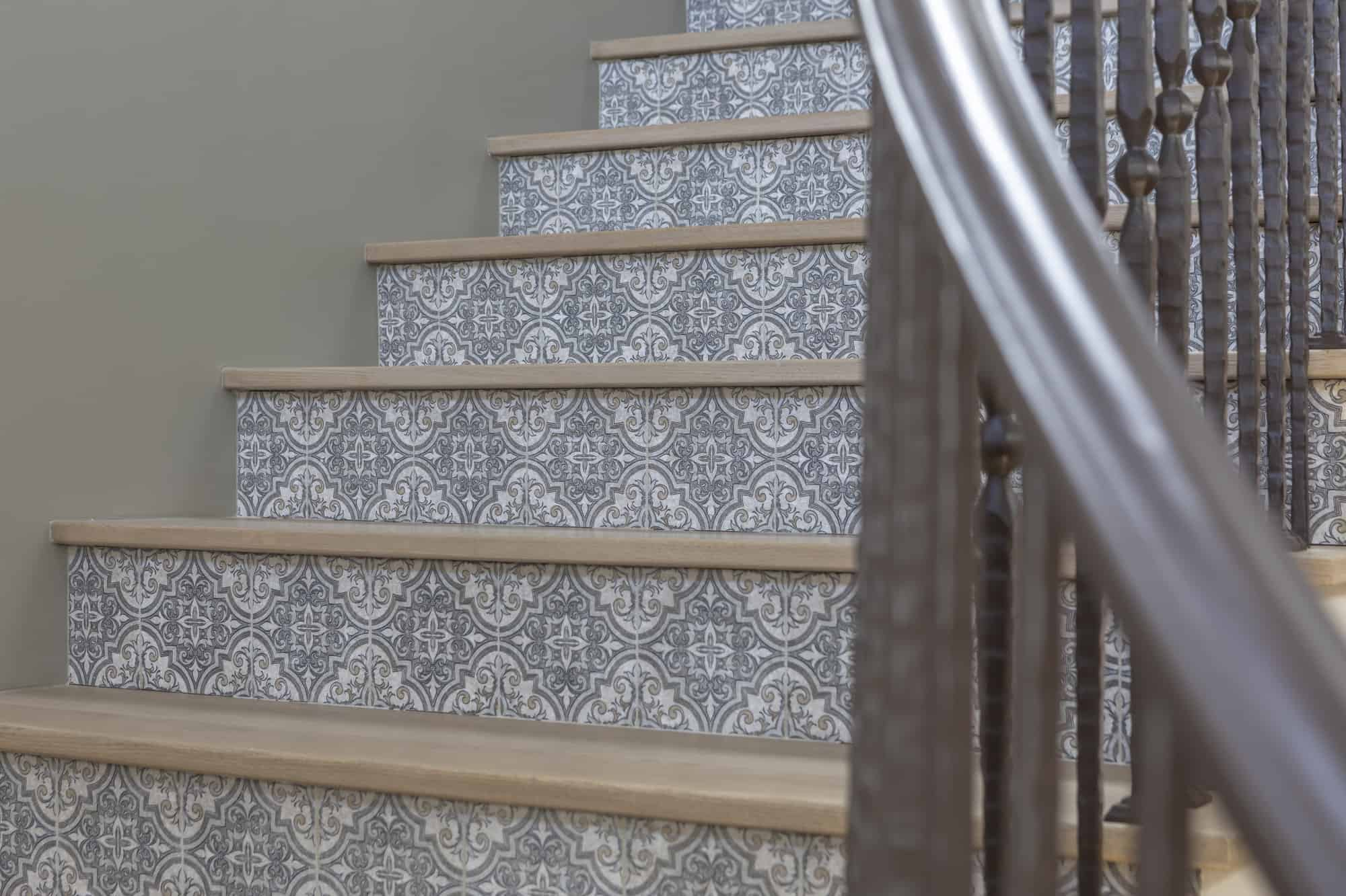 Ella (Jute) Pattern Stair risers Install