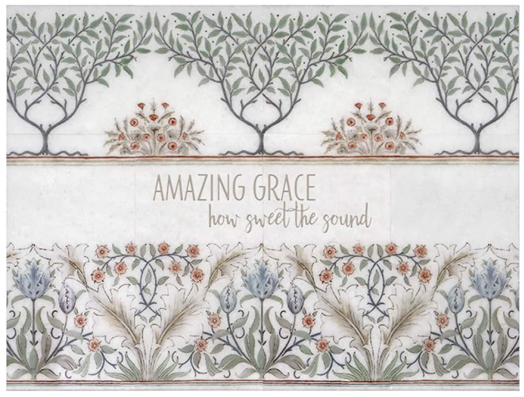 "Canterbury Mural ""Amazing Grace"" shown on Thassos"