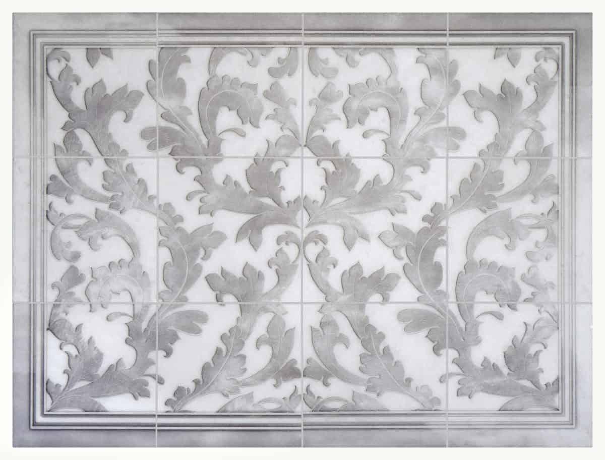 Lafayette Mural (Grey) Arctic White Product Shot