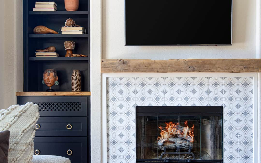 Fireplaces for Fall: Tile Ideas