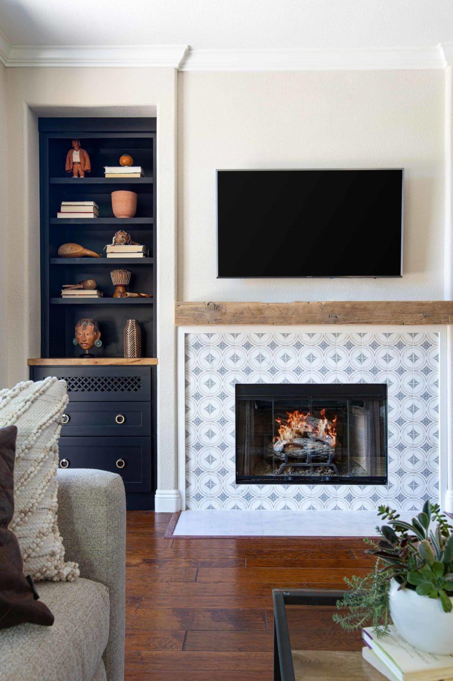 Ventana (Bronze) Fireplace Install Living Room
