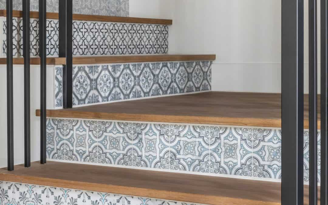Stair Risers: A Weekend Tile Project