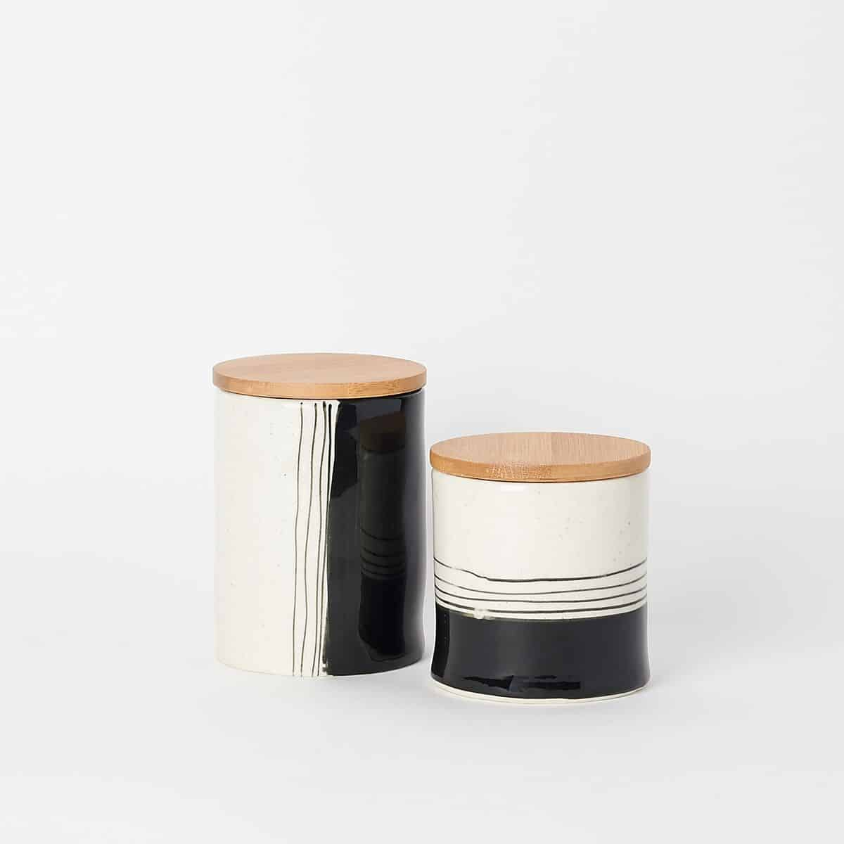 Canisters with bamboo lid