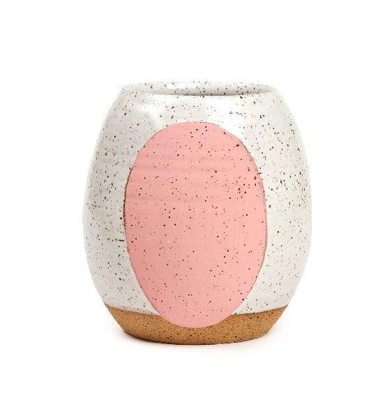 Dutch Vase with Pink Circle
