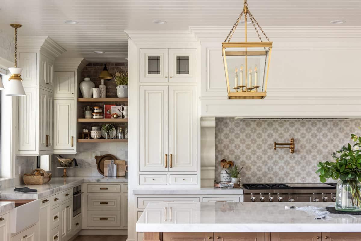 Dahlia Pattern kitchen installation