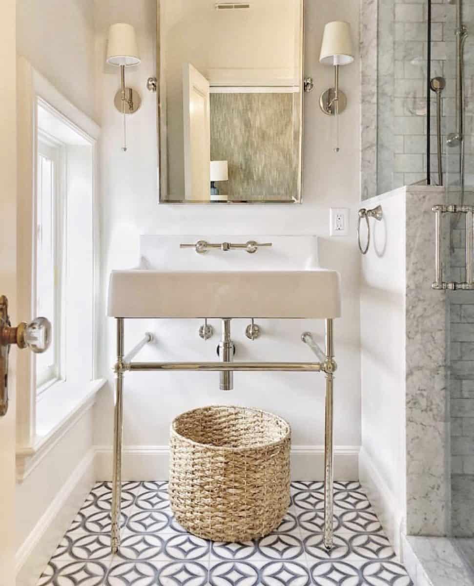 Hayden Dual bathroom floor installation