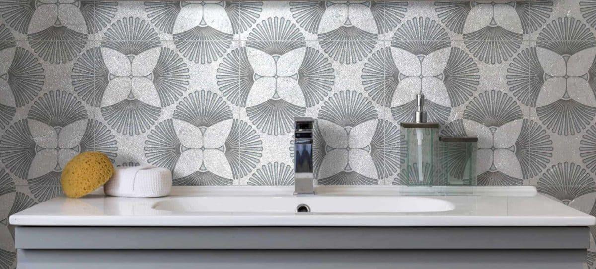 Briolette (Agate) Silver Luster Limestone Sink Install
