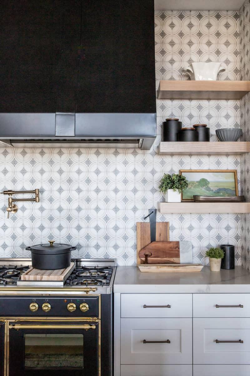 Ventana Boho Patterned Tile white classy kitchen installation