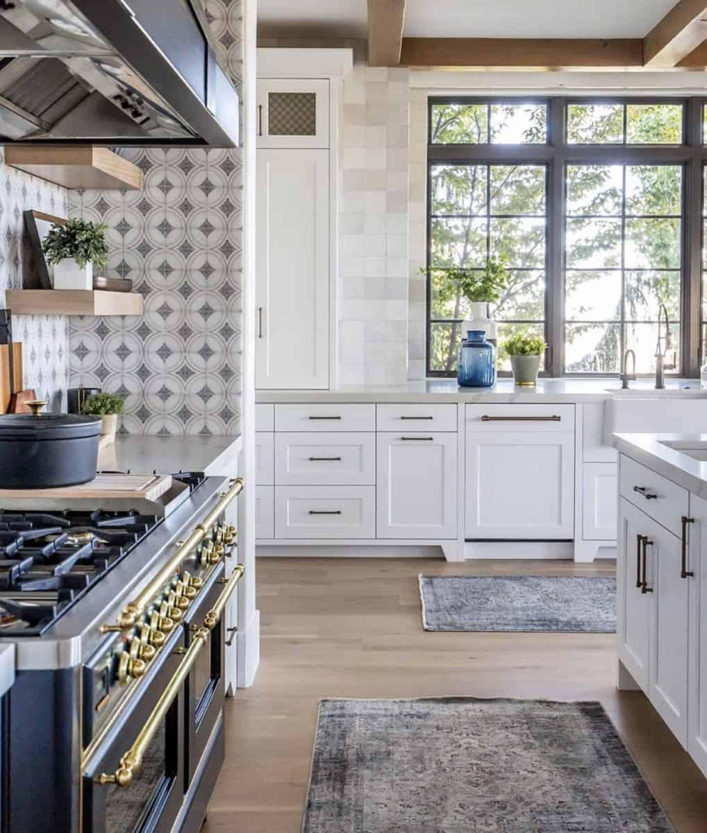 Ventana tile in modern farmhouse kitchen backsplash