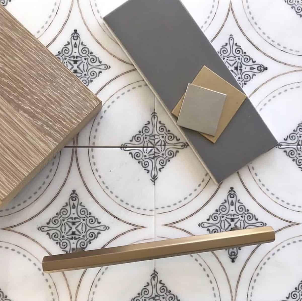 Ventana tile up close on carrara