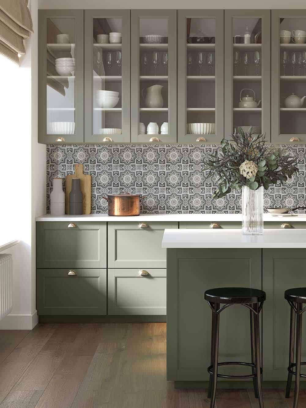 Cabrillo Nightfall Sage Green Cabinetry
