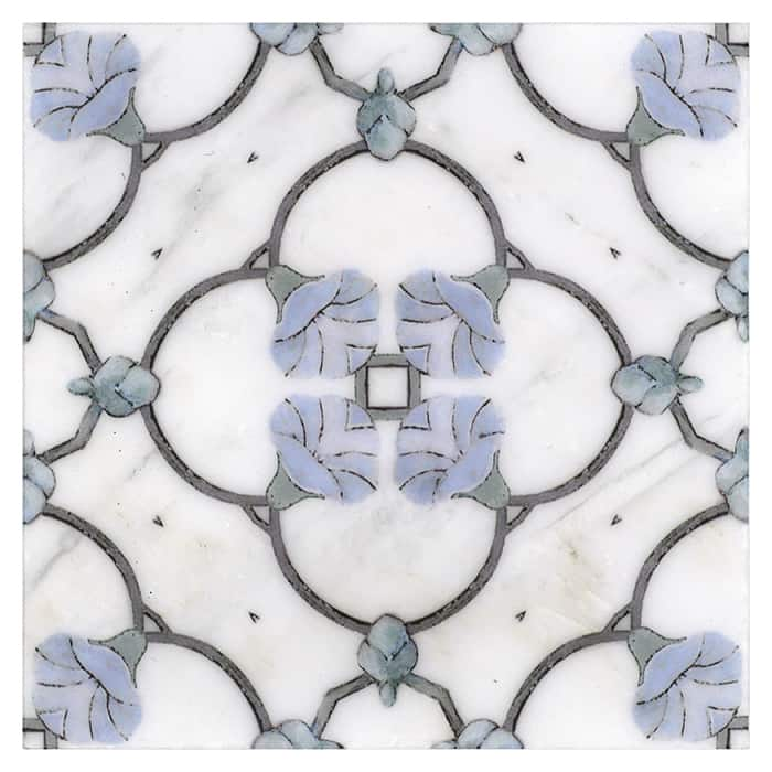 Chime Pattern (Bluebell) on Carrara