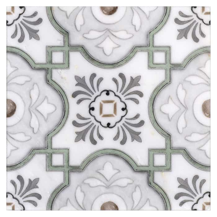 Davenport Pattern (French Green) on Carrara