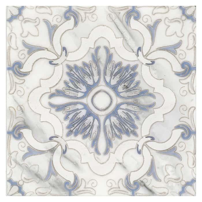 Dulcet Pattern (Sky) on Carrara