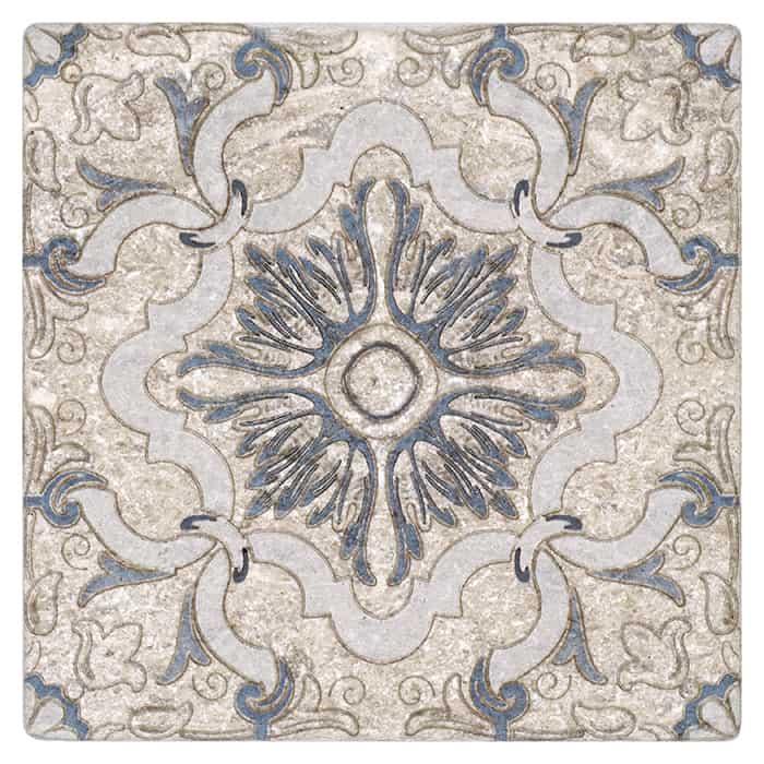 Dulcet Pattern (Sky) on Perle Blanc