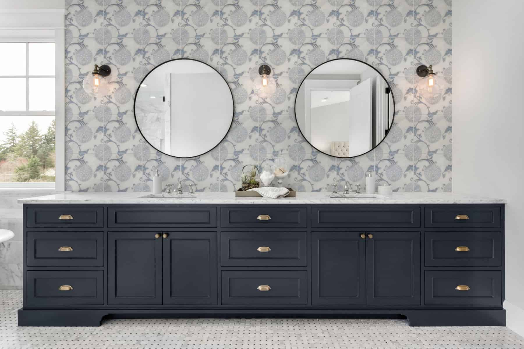Eliana (Dusty Blue) Carrara 12x12 Bathroom