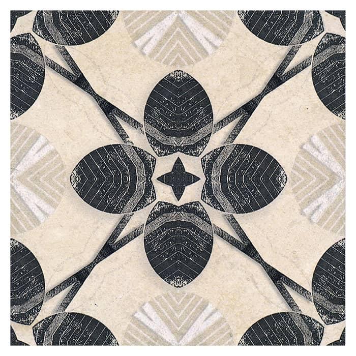 Harper Pattern (Black Licorice) on Limestone