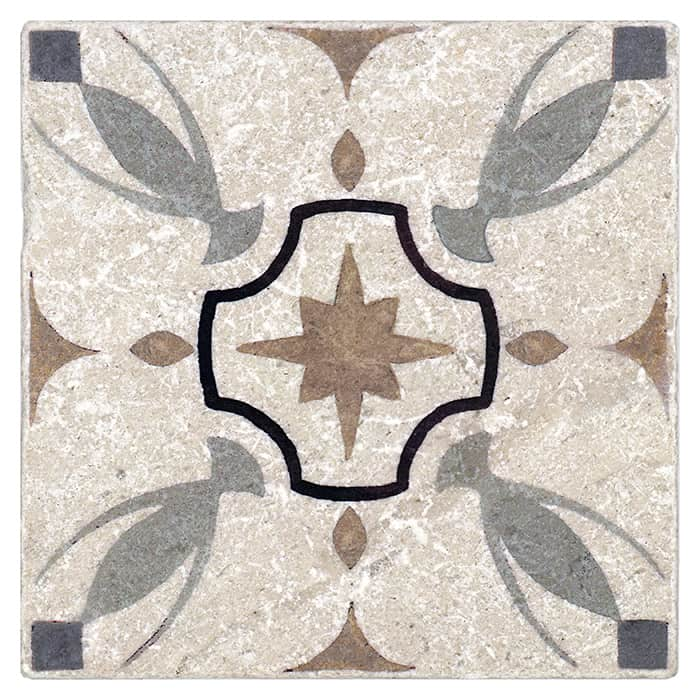 Hermosa Pattern (Bronze) on Perle Blanc