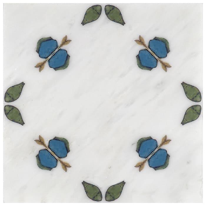 Jax Pattern (Blueberry) on Carrara