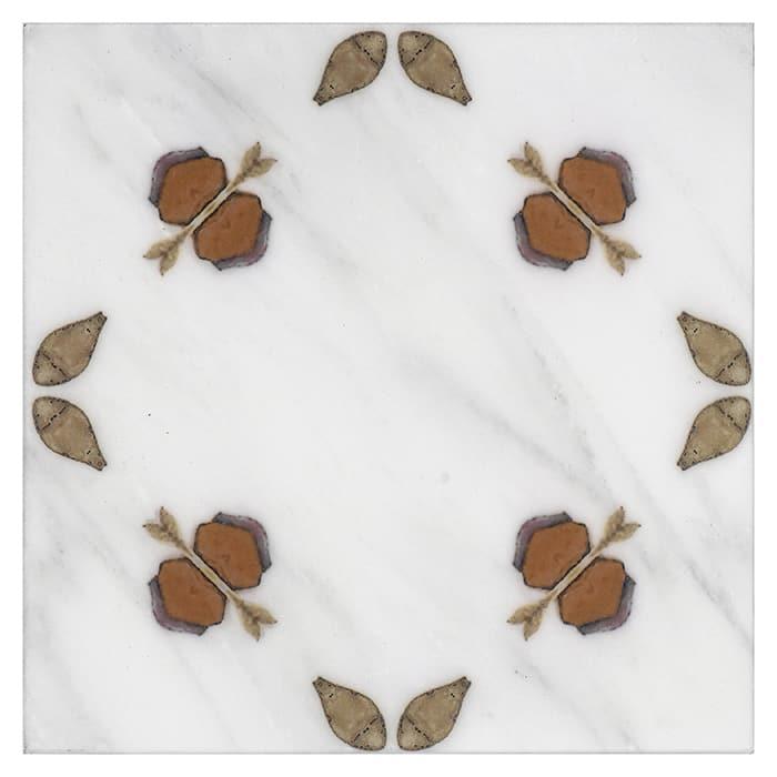 Jax Pattern (Caramel) on Carrara