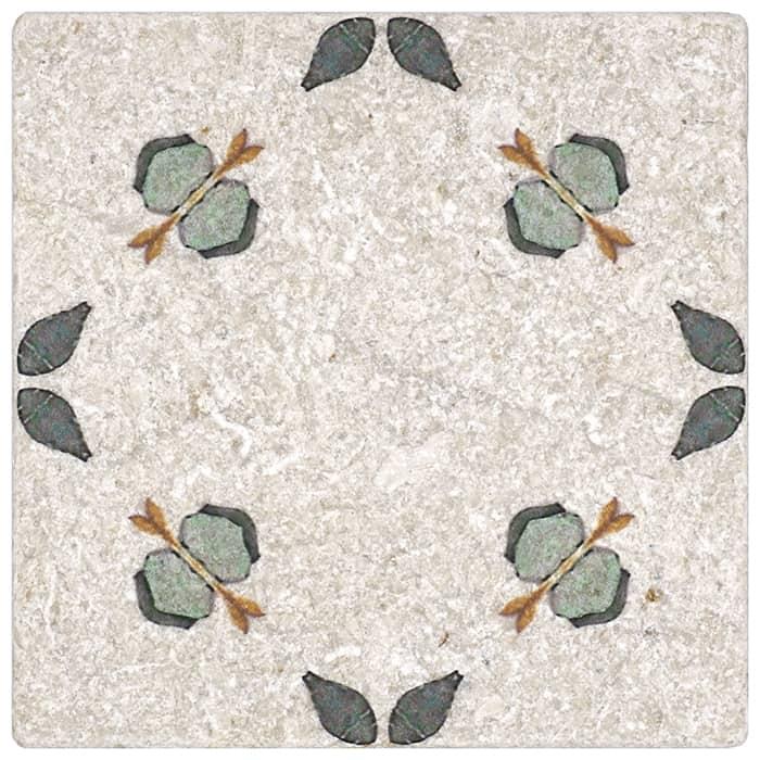 Jax Pattern (Juniper) on Perle Blanc
