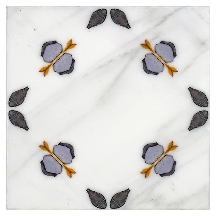 Jax Pattern (Plum) on Carrara