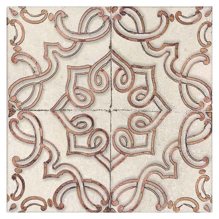 Lennox Pattern (Orchid) on Limestone