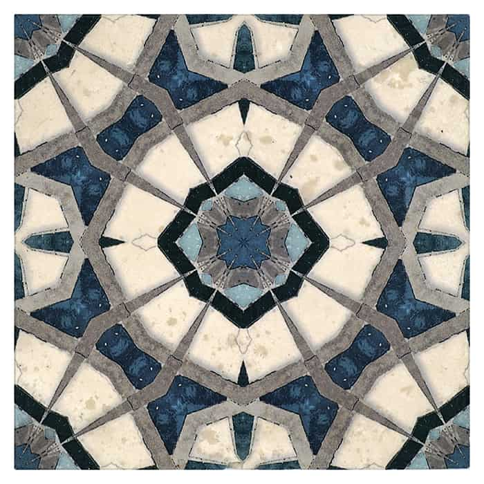 Leo Pattern (Sapphire) on Honed Durango